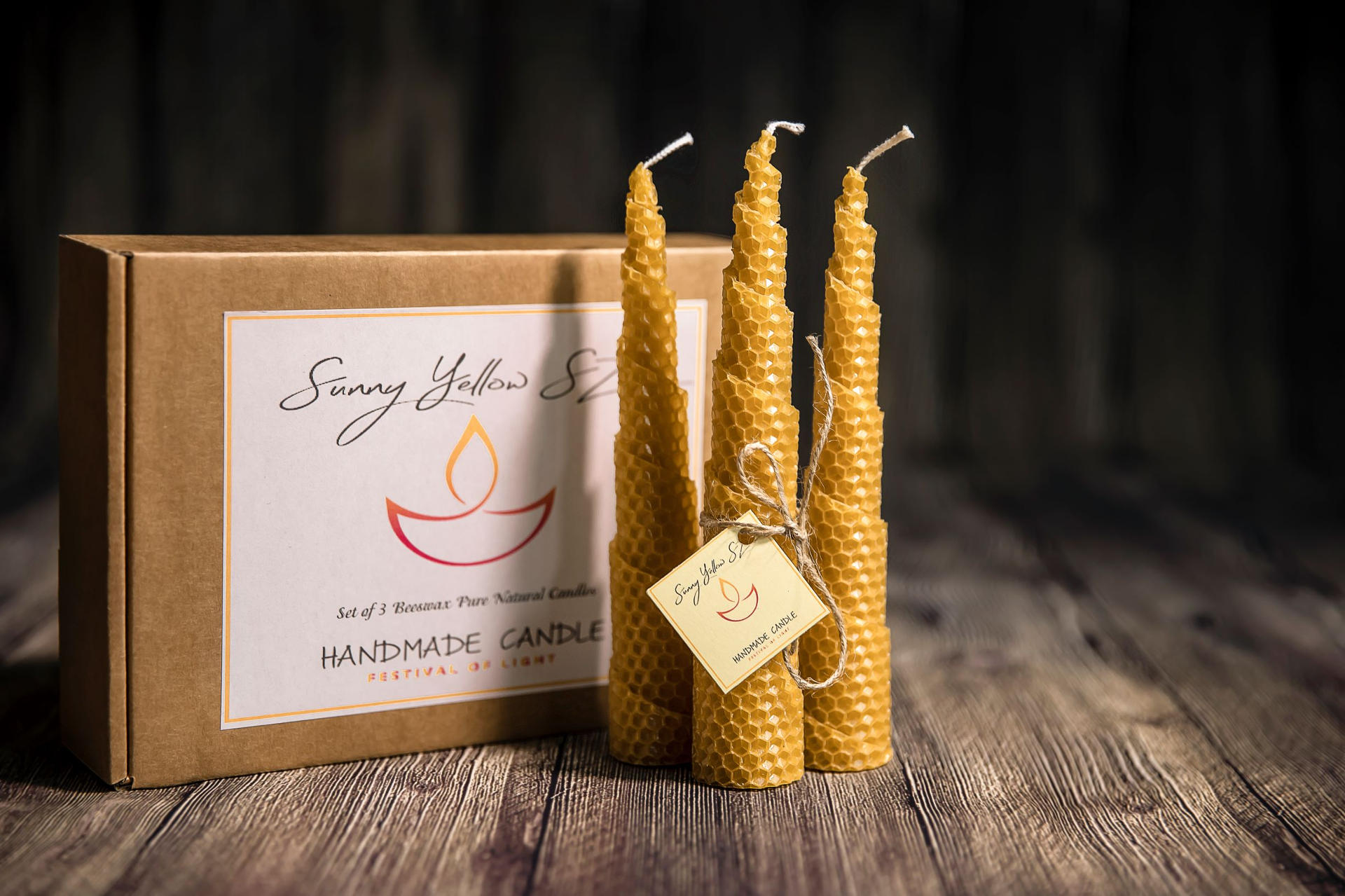 Candele Di Cera.Sunny Yellow Sz Candles