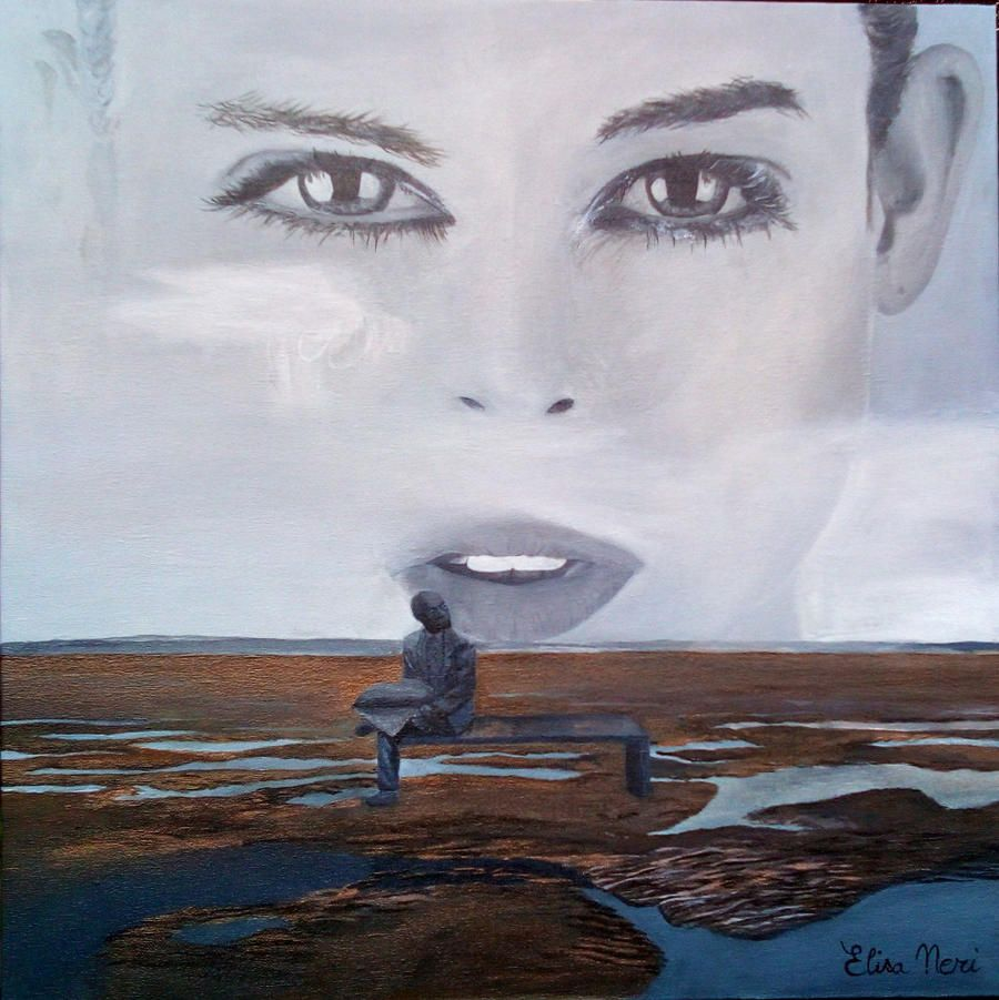 Elisa Neri - I will wait for you- Acrylic painting on canvas