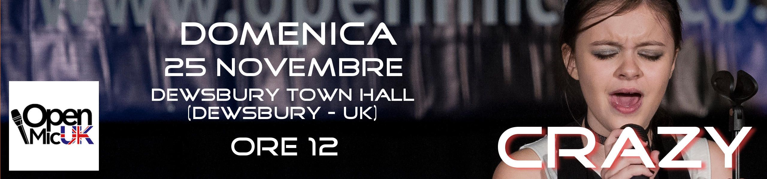Elisa Neri - Area Fianl - Open Mic UK - Dewsbury Town Hall - UK